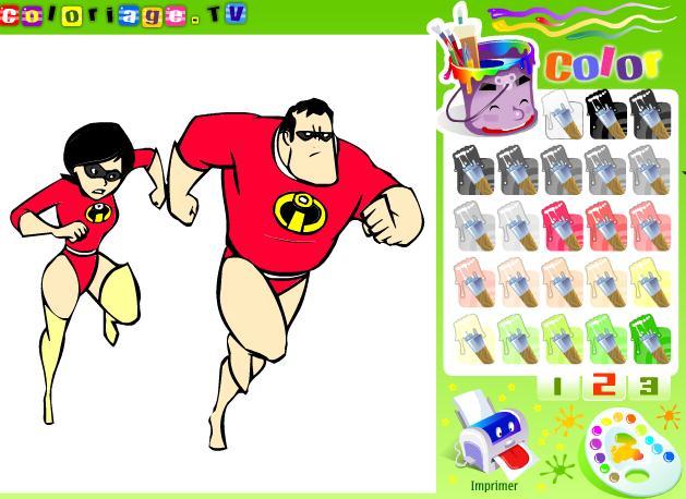 Coloring Incredibles