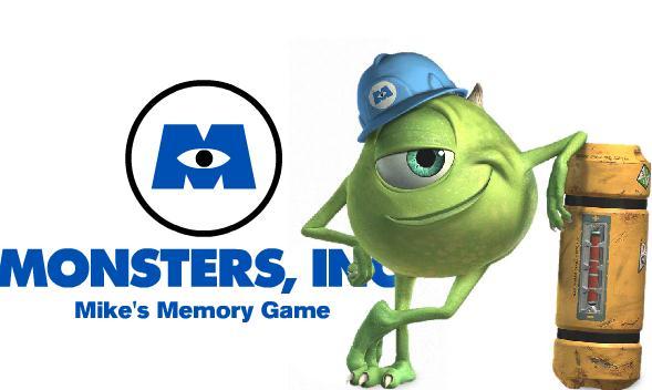 Monsters Inc Mike Memory Game