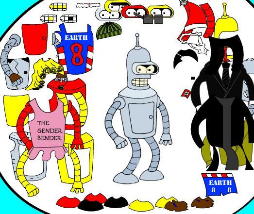Futurama Dress Up Game
