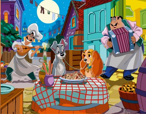 Sort My Tiles Lady And The Tramp