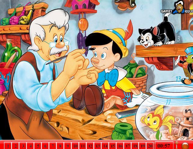 Hidden Numbers Pinocchio