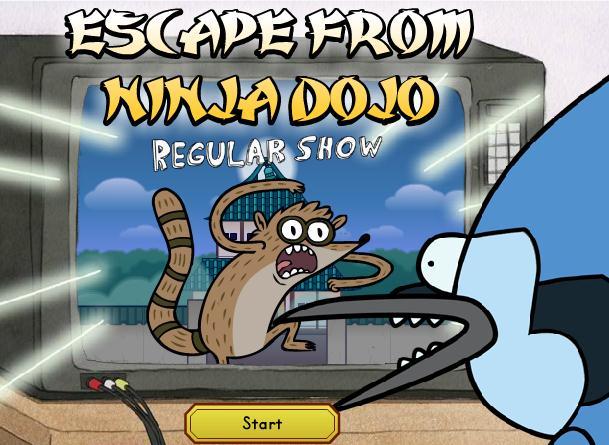 Regular Show Escape From Ninja Dojo