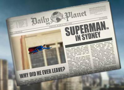 Superman Stop Press