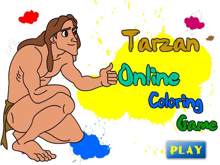 Tarzan Online Coloring Game