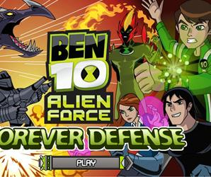 Ben10 Forever Defense Game Game : Play Ben10 Forever Defense game: Switch between Swampfire's fireballs, Gwen's shield and Kevin's absorbing powers to fend off the Forever Knights in Forever Defense.
