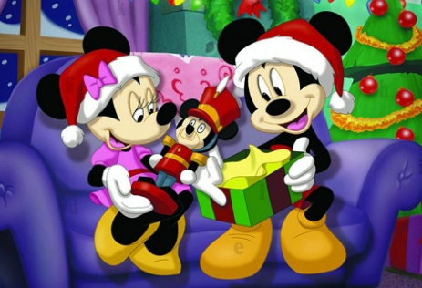Christmas Mickey Mouse Hidden Letters