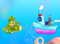 Spongebob And The Airplane