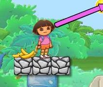 Dora Banana Feeding