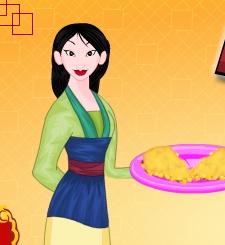 Mulan Cooking Chinese Pie