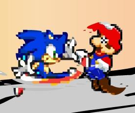 Mario Vs Sonic: The Sprite Fight