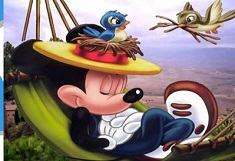 Mickey Mouse Sleeping Puzzle